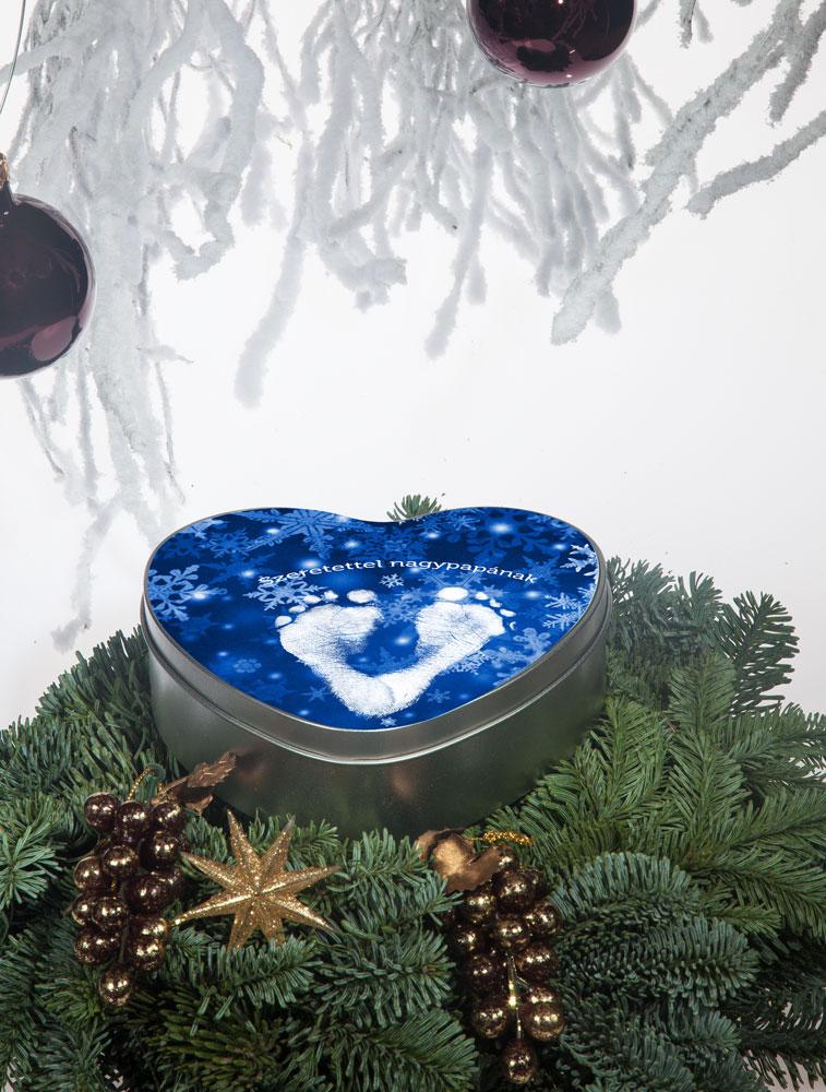 Karácsonyi kekszes doboz