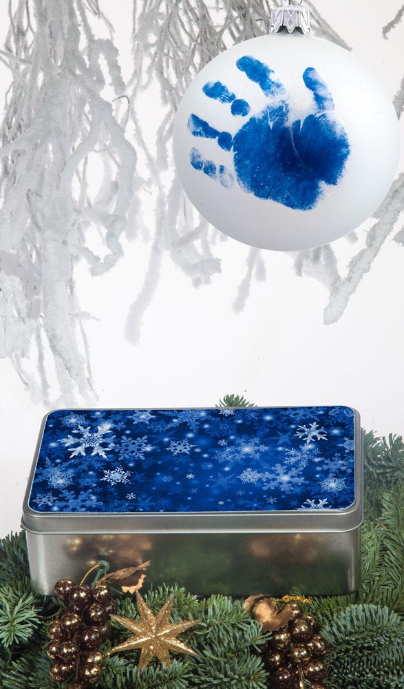 Karácsonyi kekszes doboz - szögletes